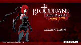 """Das Bild zeigt das Logo des Spieles """"BloodRayne Betrayal: Fresh Bites""""."""