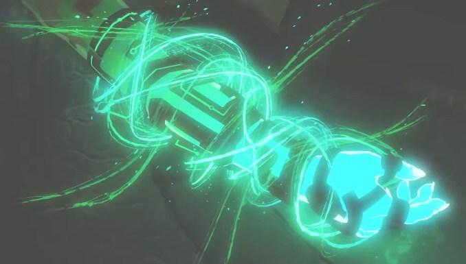 """Das Bild zeigt eine Nahaufnahme des magischen Arms von Link im Nachfolger zu """"Breath of the Wild""""."""