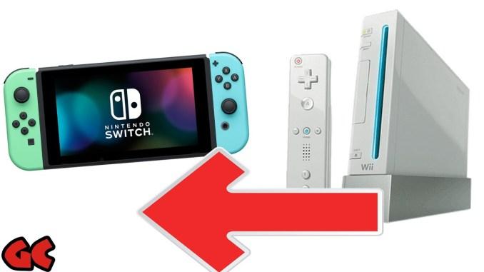 Das Bild zeigt einmal die Nintendo Switch (links) und die Wii (rechts).