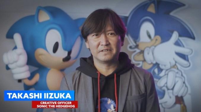 Auf dem Bild sieht man den Creative Officer von Sonic the Hedgehog – Takashi Iizuka.