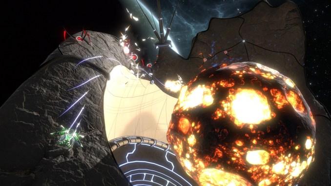 """Das Bild zeigt eine Szene aus dem Spiel """"Curved Space""""."""