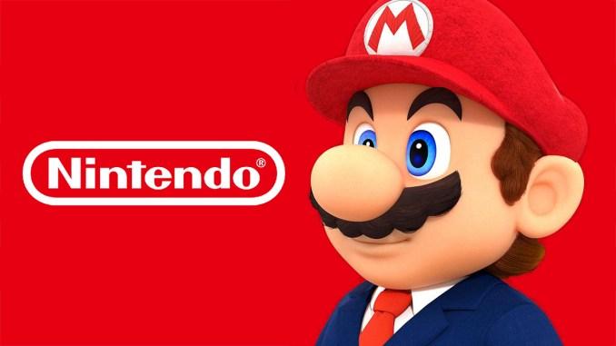 Das Bild zeigt das Logo von Nintendo, gemeinsam mit dem bekanntesten Nintendo-Charakter Mario.
