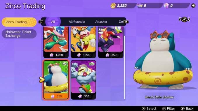 Das Bild zeigt den Strand-Skin von Relaxo aus Pokémon Unite