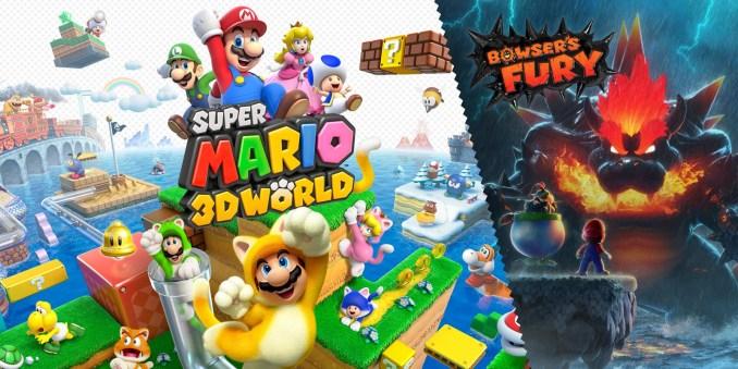 """Das Bild zeigt das Titelbild von """"Super Mario 3D World + Bowser's Fury""""."""