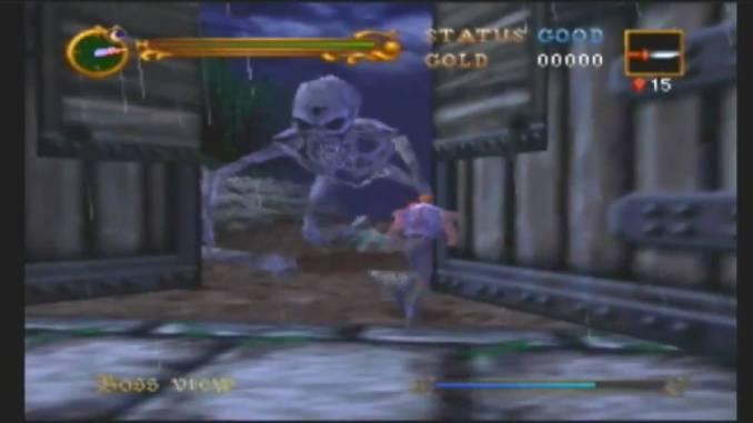 Das Bild zeigt Castlevania 64 in einem Ingame Screen