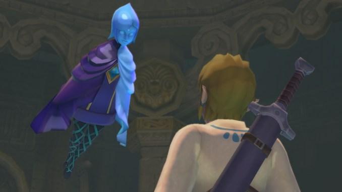 """Das Bild zeigt Link und Phai in """"Skyward Sword HD""""."""
