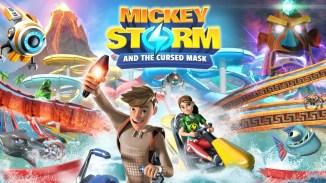 """Das Biild zeigt das Logo von """"Mickey Storm and the Cursed Mask""""."""