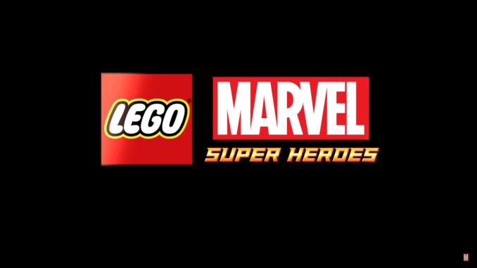 """Das Bild zeigt das Logo von """"LEGO Marvel Super Heroes""""."""