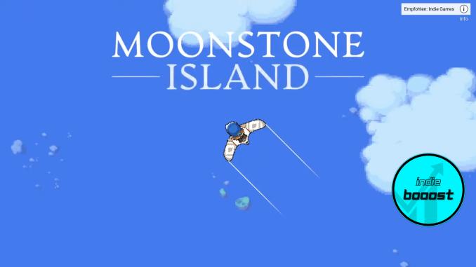 """Das Bild zeigt das Logo von """"Moonstone Island""""."""
