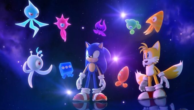 Im Bild siehts man Sonic ( links9 und Tails (rechts) mit den Wisps aus dem Spiel Sonic Colors Ultimate.