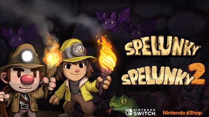 Das Bild zeigt das Titelbild des Spiels Spelunky