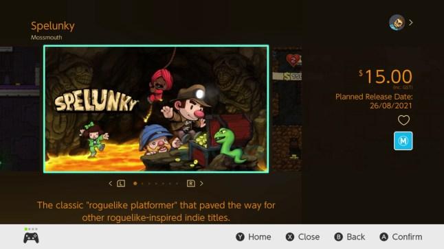 Auf dem Bild sieht man das Titelbild aus dem Spiel Spelunky 1