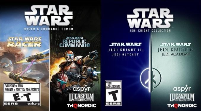 """Das Bild zeigt die potenziell bald von THQ Nordic veröffentlichten """"Star Wars""""-Doppelpacks."""