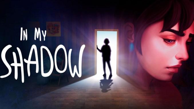 """Das Bild zeigt das Logo des Spieles """"In My Shadow""""."""