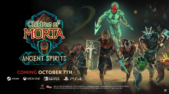 """DAs Bild zeigt das Logo des neusten DLCs von """"Children of Morta""""."""