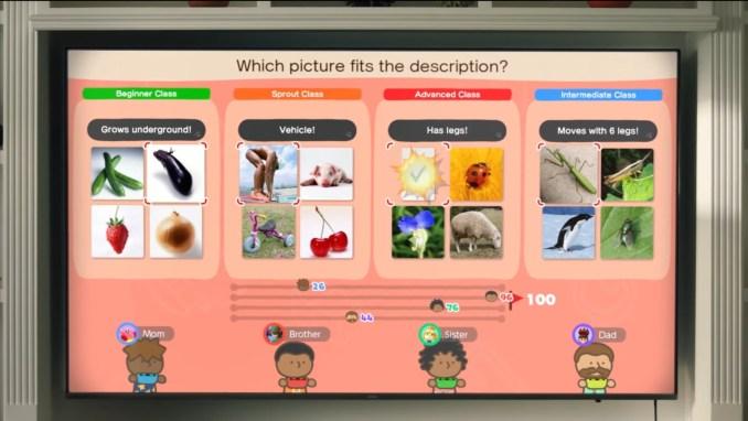 """Das Bild zeigt ein Multiplayer-Spiel in """"Big Brain Academy: Kopf an Kopf""""."""
