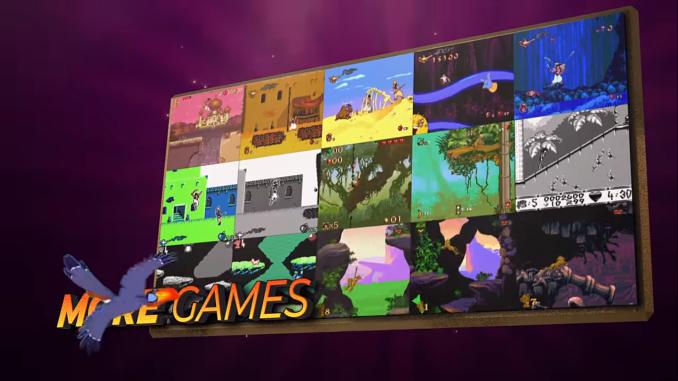 """Das Bild zeigt die verschiedenen Versionen der Spiele in der """"Disney Classic Games Collection""""."""