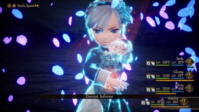 """Das Bild zeigt eine Szene aus dem Spiel """"Bravely Default 2""""."""
