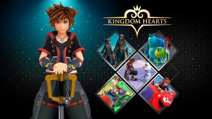 """Das Bild zeigt das Logo des Spieles """"Kingdom Hearts""""."""