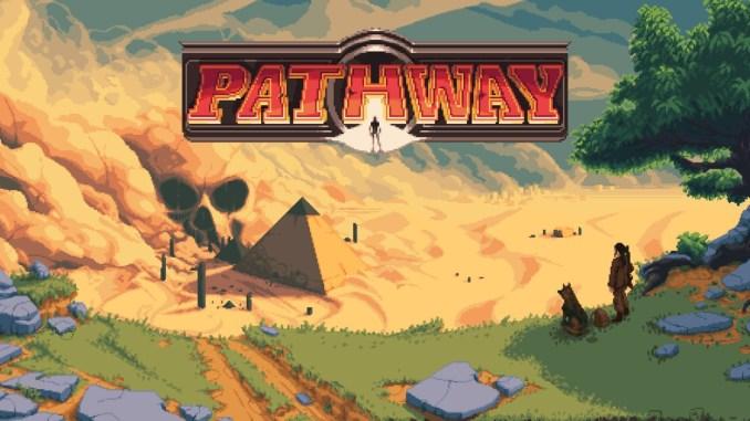 """Das Bild zeigt das Logo des Spieles """"Pathway""""."""