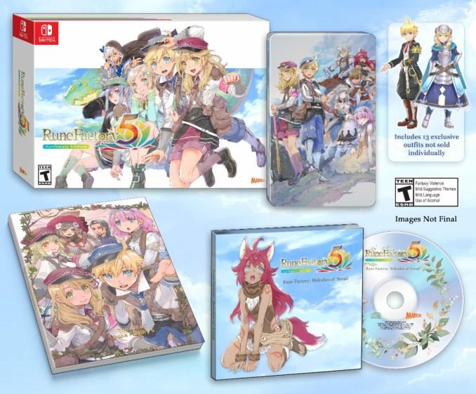 """Das Bild zeigt die Limited Edition von """"Rune Factory 5""""."""