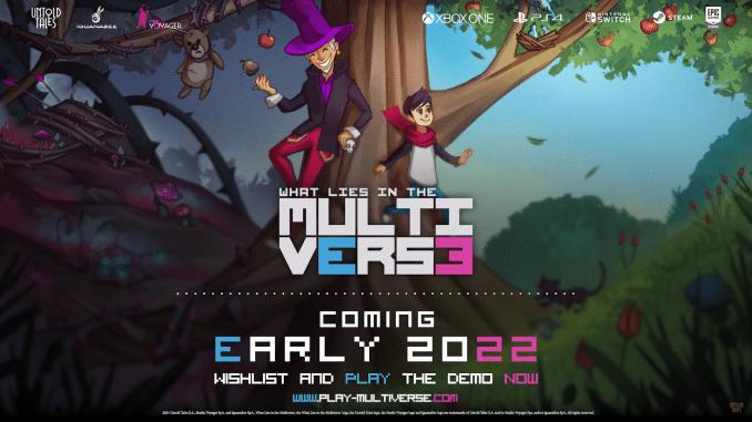 """Das Bild zeigt eine Szene aus dem Spiel """"What Lies in the Multiverse""""."""