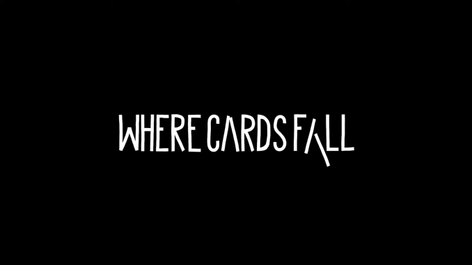 """Das Bild zeigt das Logo des Spiels """"Where Cards Fall""""."""