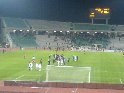 UEFA-Cup Larissa - Nürnberg 1:3 Spielerjubel Laola in Volos