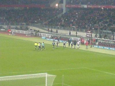 Nürnberg - Benfica Lissabon Halbzeitpause