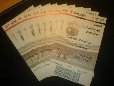 Eintrittskarten Frankfurter Eintracht - 1.FC Nürnberg