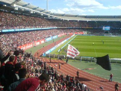 FCN-Torjubel nach Jan Kollers Treffer für Nürnberg gegen Wolfsburg