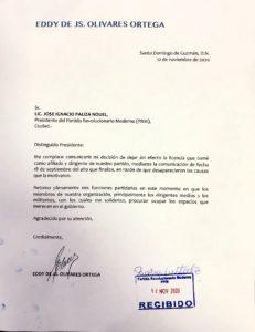 Carta Eddy Olivares
