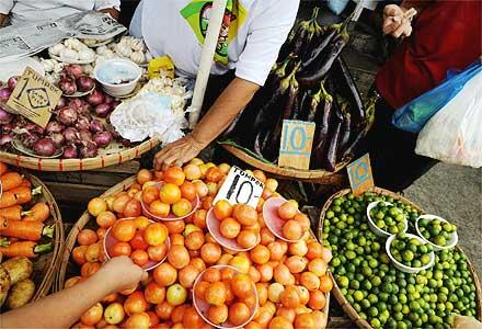 Vegetais vendidos em Manila c1f427a093fa1