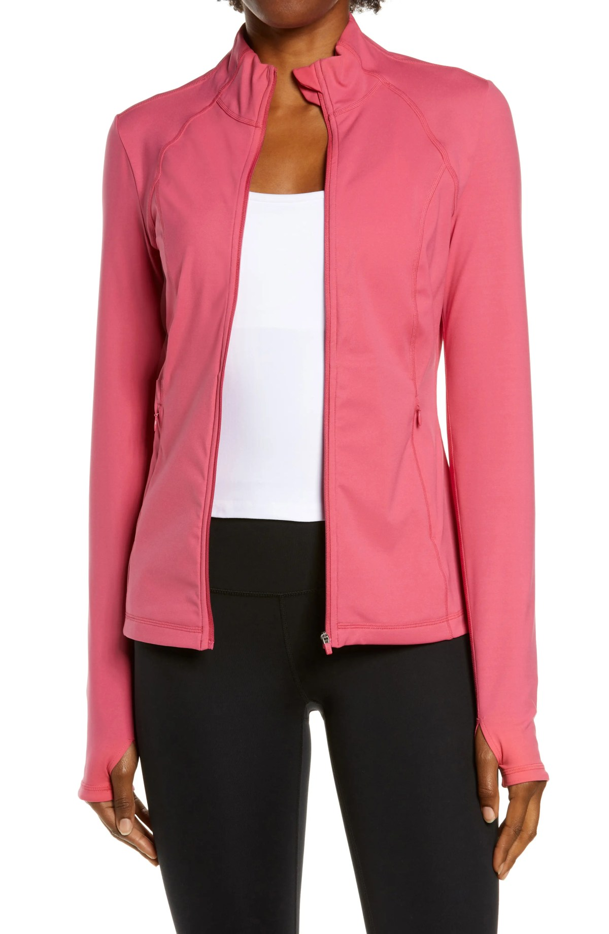 SWEATY BETTY Power Workout Jacket, Main, color, TAYBERRY PINK