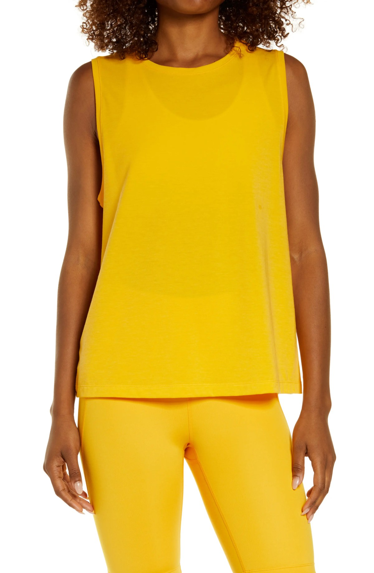 ZELLA Work For It Easy Tank Top, Main, color, YELLOW AUTUMN
