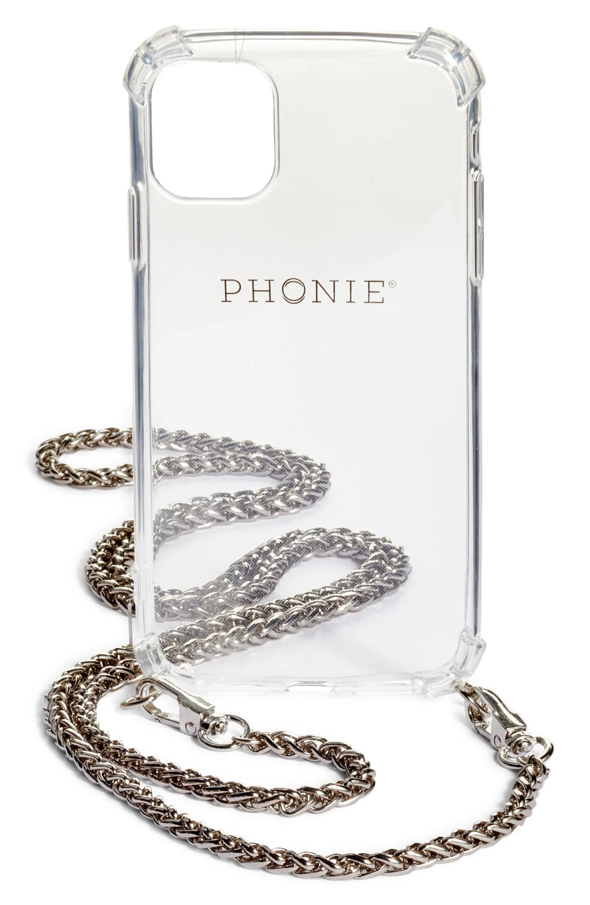 PHONIE Jenny Crossbody iPhone 11 Pro Max Case with Necklace Chain, Main, color, SILVER