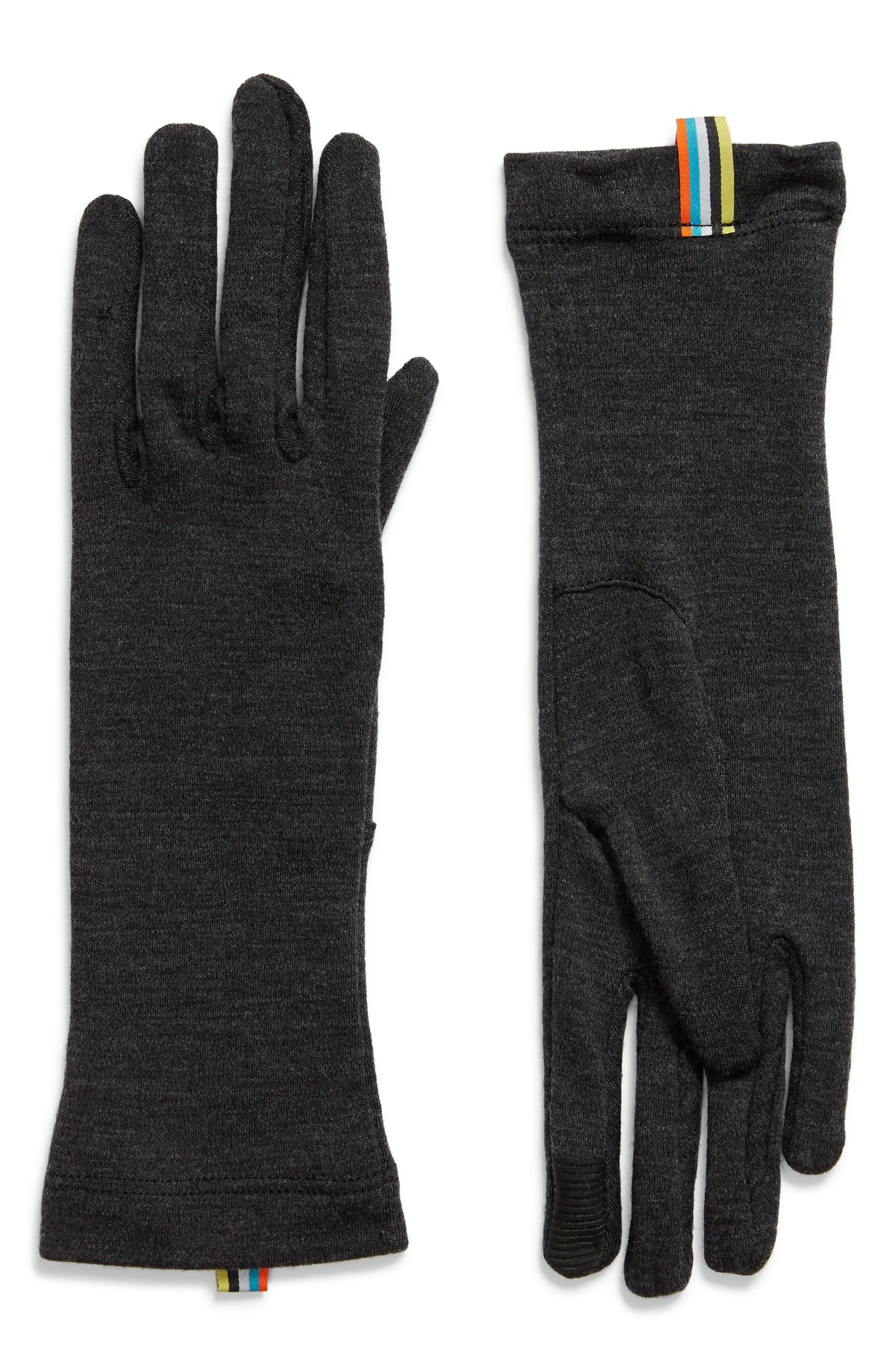 SMARTWOOL Merino Wool 250 Gloves, Main, color, CHARCOAL HEATHER