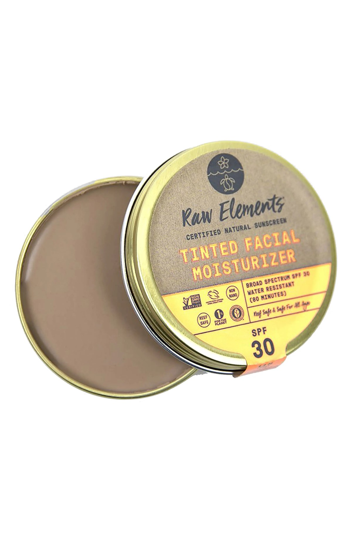 RAW ELEMENTS Package Free x Raw Elements Tinted Facial Moisturizer & Sunscreen Broad Spectrum SPF 30, Main, color, MULTI
