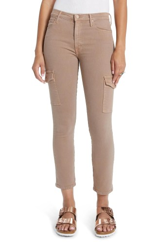 MOTHER The Dazzler Cargo Ankle Pants, Main, color, TOASTED BROWN