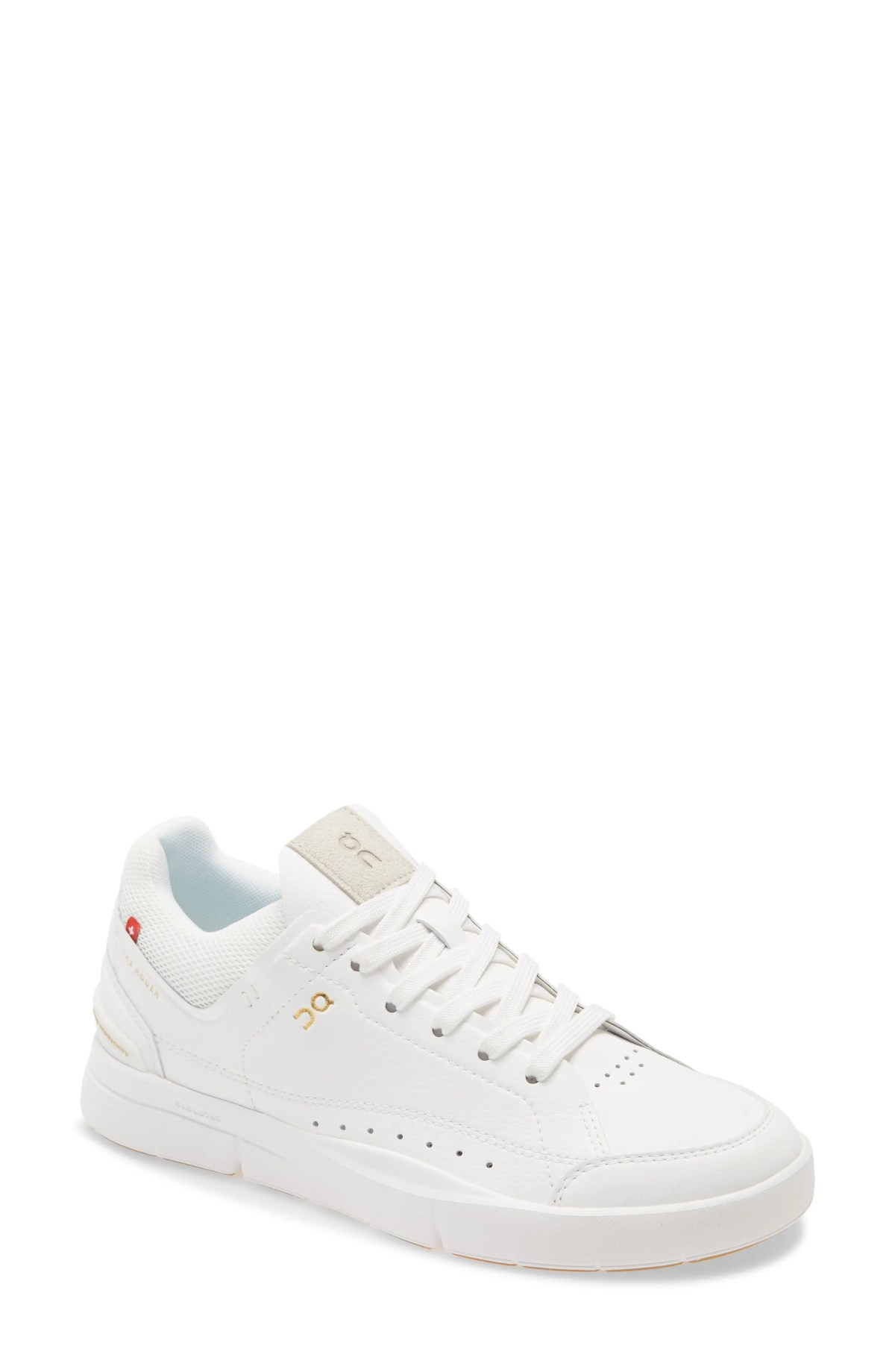 ON THE ROGER Centre Court Tennis Sneaker, Main, color, WHITE/ GUM