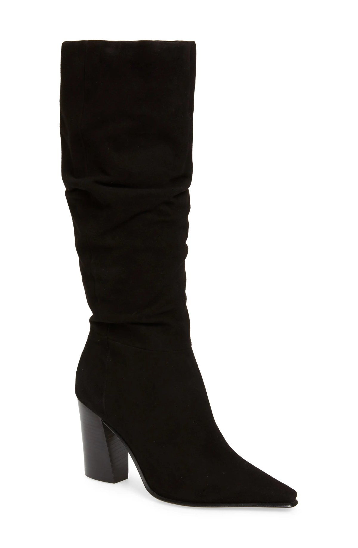VINCE CAMUTO Derika Leather Boot, Main, color, BLACK SUEDE