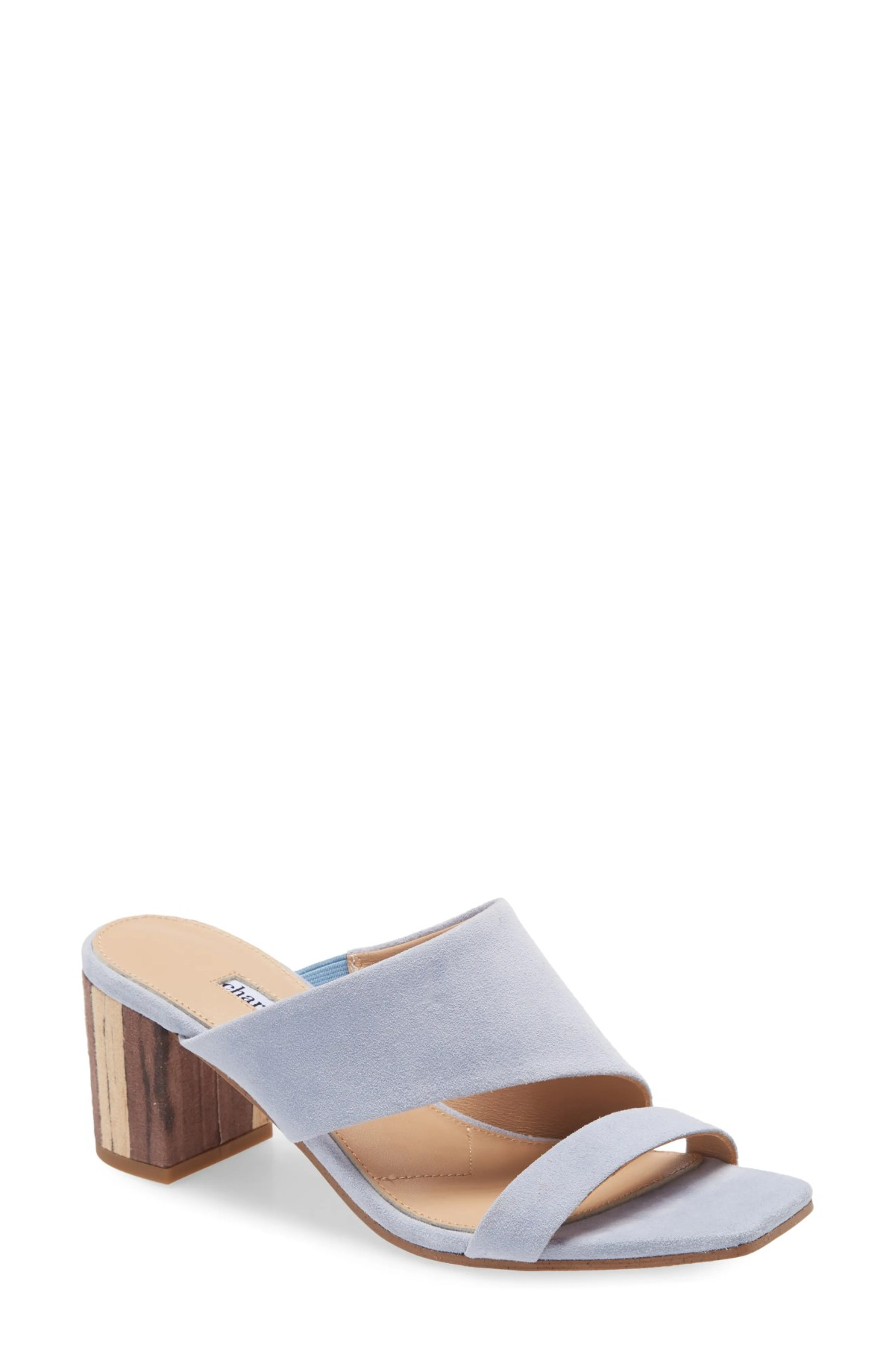 CHARLES DAVID Chello Slide Sandal, Main, color, MUTED MULE SUEDE