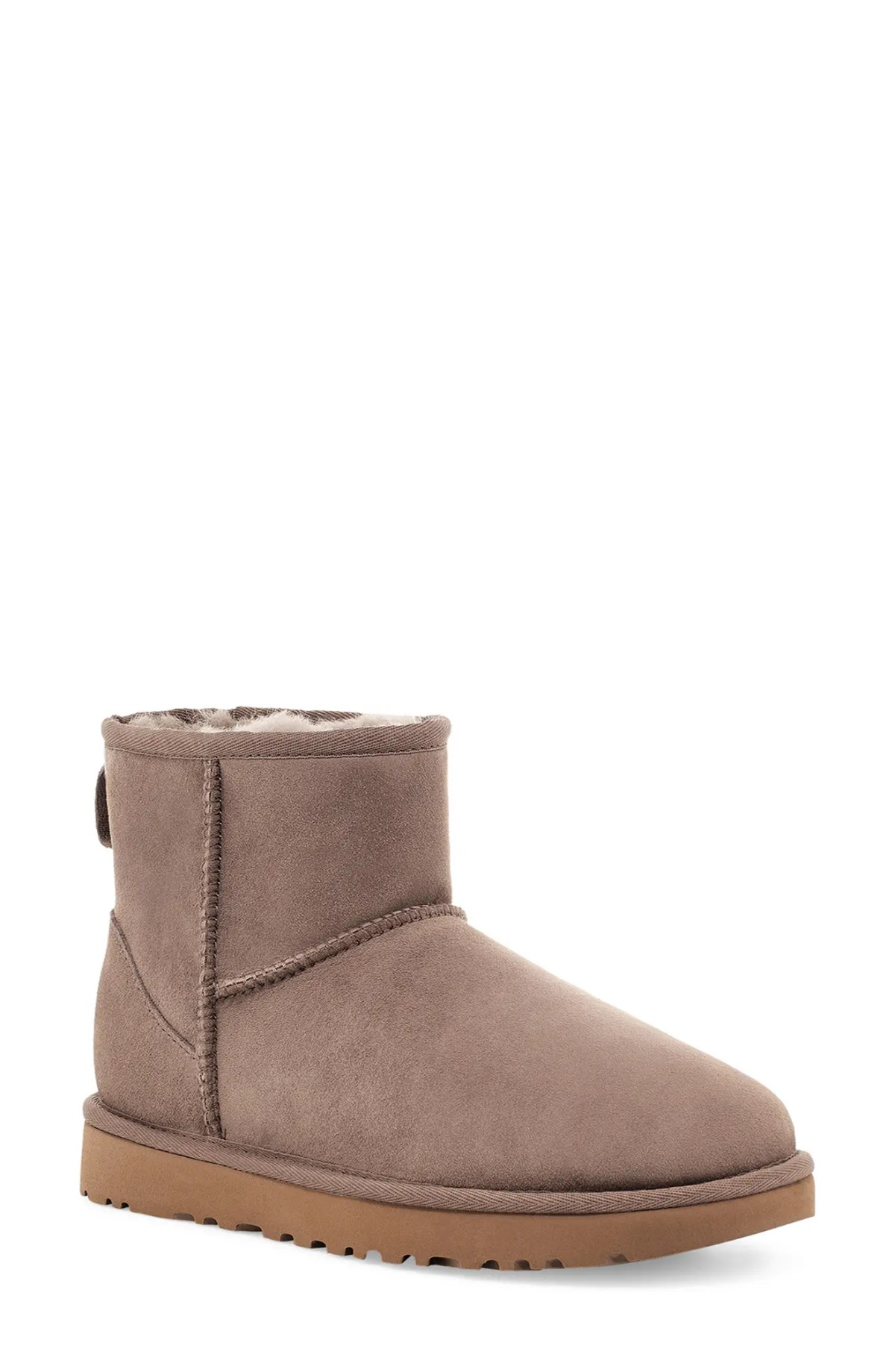 UGG<SUP>®</SUP> Classic Mini II Genuine Shearling Lined Boot, Main, color, CARIBOU SUEDE