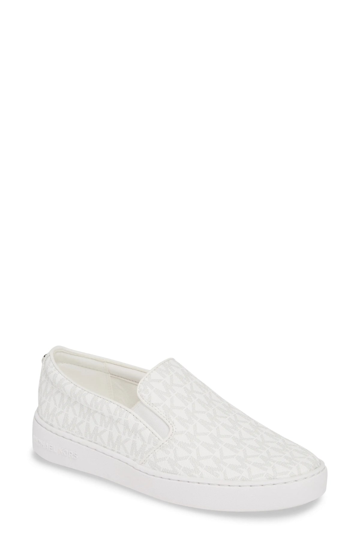 MICHAEL MICHAEL KORS Keaton Slip-On Sneaker, Main, color, BRIGHT WHITE FABRIC