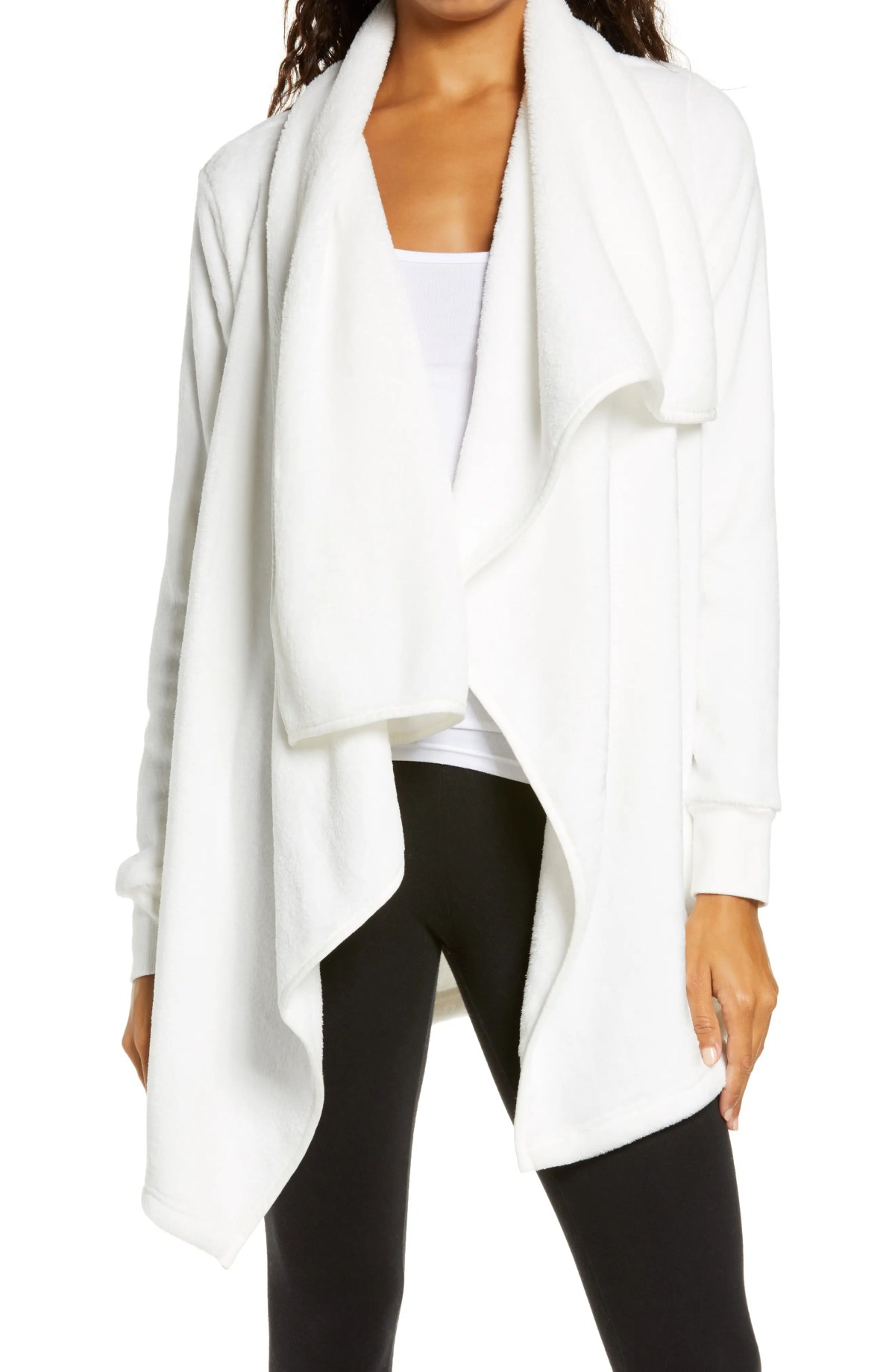 UGG<SUP>®</SUP> Orla Double Face Fleece Drape Jacket, Main, color, SEAGULL