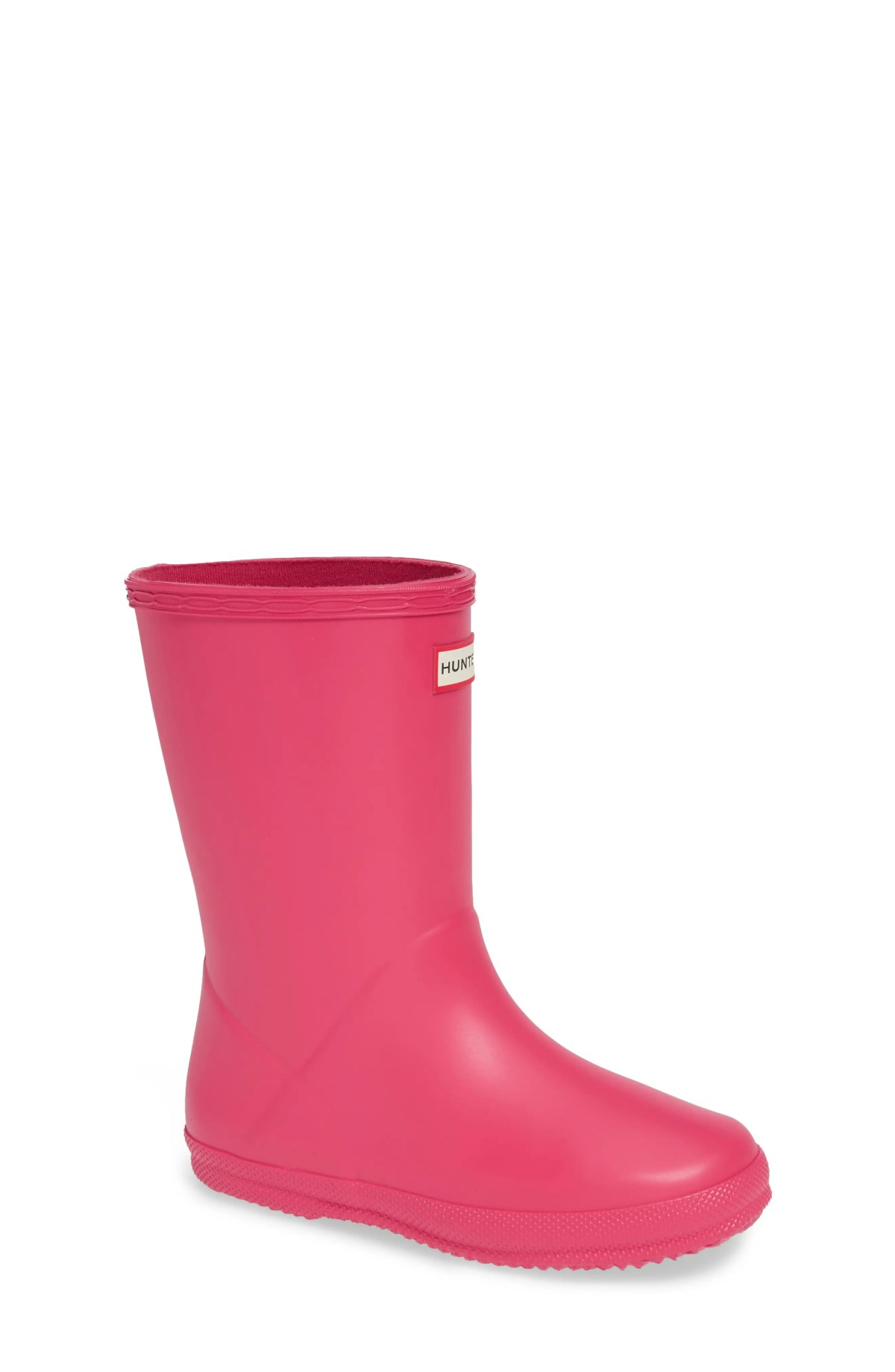 HUNTER First Classic Waterproof Rain Boot, Main, color, BRIGHT PINK