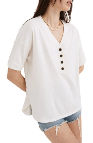 MADEWELL Relaxed Henley T-Shirt, Main, color, LIGHTHOUSE