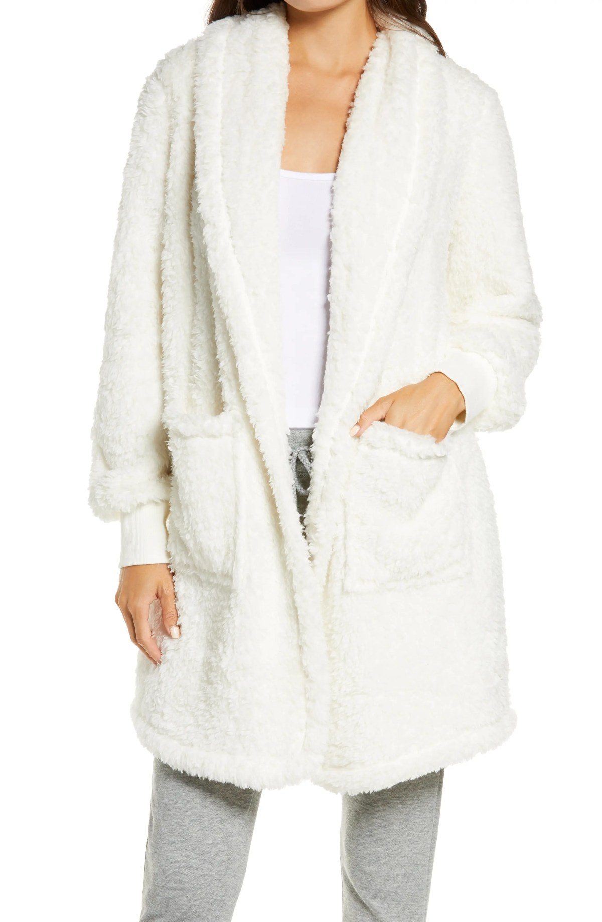BP. Fleece Cardigan, Main, color, IVORY EGRET