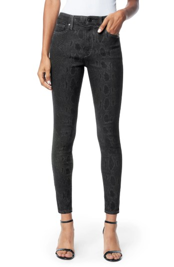 JOE'S The Charlie Ankle Skinny Jeans, Main, color, BLACK SNAKE PRINT