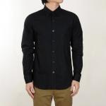 เสื้อเชิ้ตสีดำ เนื้อผ้าคอตตอน 100% SIZE M